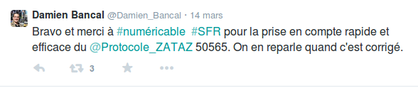 tweet damein bancal numericable 14 mars