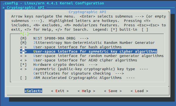 Option kernel chiffrement matériel A20